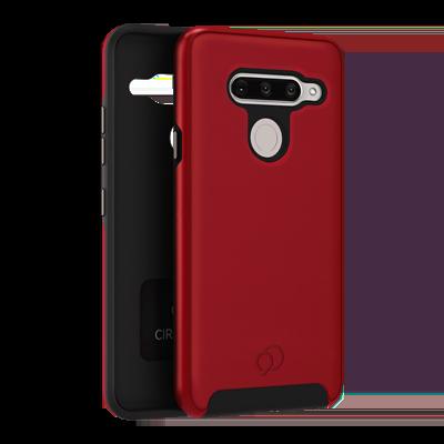 LG V40 ThinQ - Cirrus 2 Case Crimson