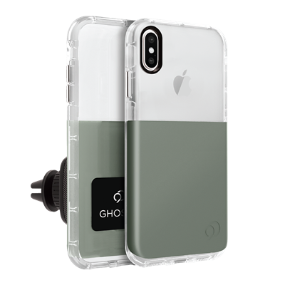 iPhone Xs Max - Ghost 2 Case Olive Gray