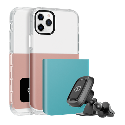 iPhone 11 Pro Max / Xs Max - Ghost 2 Pro Case Rose Gold / Turquoise Blue
