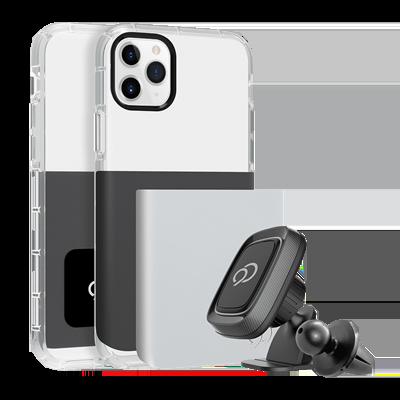 iPhone 11 Pro / Xs / X - Ghost 2 Pro Case Gunmetal Gray / Pure White