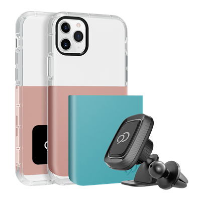 iPhone 11 Pro / Xs / X - Ghost 2 Pro Case Rose Gold / Turquoise Blue