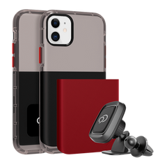 iPhone 11 / XR - Ghost 2 Pro Case Pitch Black / Crimson