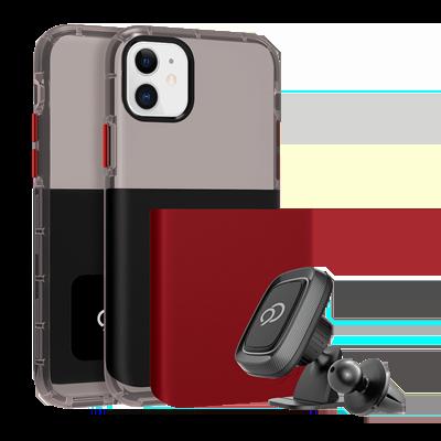 iPhone 11 / XR - Ghost 2 Pro Case Pitch Black / Crimson