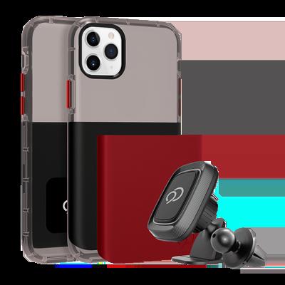 iPhone 11 Pro / Xs / X - Ghost 2 Pro Case Pitch Black / Crimson