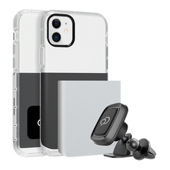 iPhone 11 / XR - Ghost 2 Pro Case Gunmetal Gray / Pure White