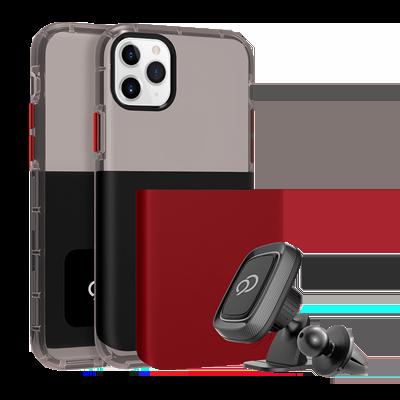 iPhone 11 Pro Max / Xs Max - Ghost 2 Pro Case Pitch Black / Crimson