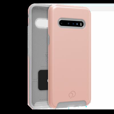 LG V60 ThinQ - Cirrus 2 Case Rose Clear