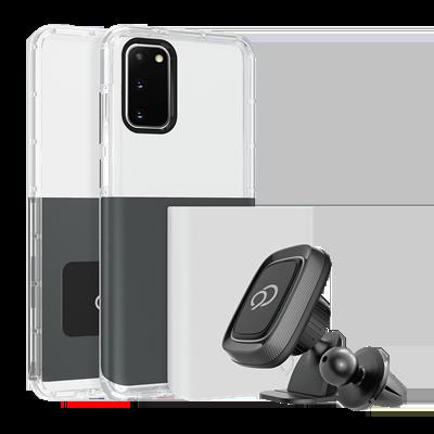 Galaxy S20 5G - Ghost 2 Pro Case Gunmetal Gray / Pure White