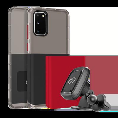 Galaxy S20 5G - Ghost 2 Pro Case Pitch Black / Crimson