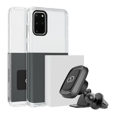 Galaxy S20 Plus 5G - Ghost 2 Pro Case Gunmetal Gray / Pure White
