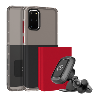 Galaxy S20 Plus 5G - Ghost 2 Pro Case Pitch Black / Crimson