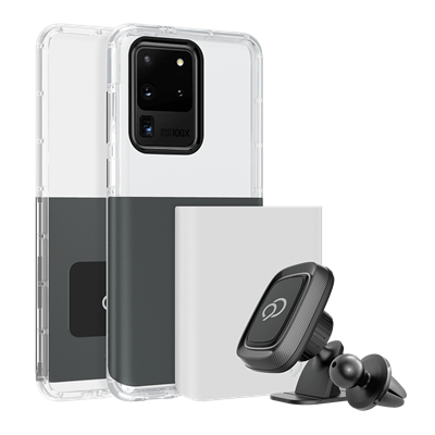 Galaxy S20 Ultra 5G - Ghost 2 Pro Case Gunmetal Gray / Pure White