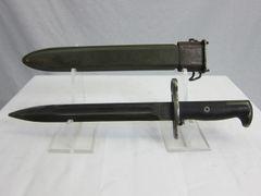 U.S. WWII M1 Garand Rifle 10 inch Bayonet, by American Fork & Hoe - ORIGINAL
