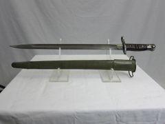 "U.S. WWI M1917 Winchester 17"" Rifle Bayonet marked ""Circle W"" w/M1917 Scabbard - ORIGINAL"