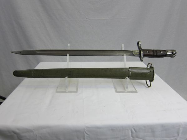 "U.S. WWI M1917 Winchester 17"" Rifle Bayonet marked ""Circle W"" w/M1917 Scabbard - ORIGINAL"