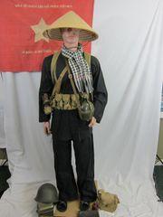 Vietnam War - Viet Cong Black Pajama Type Enlisted Man's Uniform - ORIGINAL RARE -