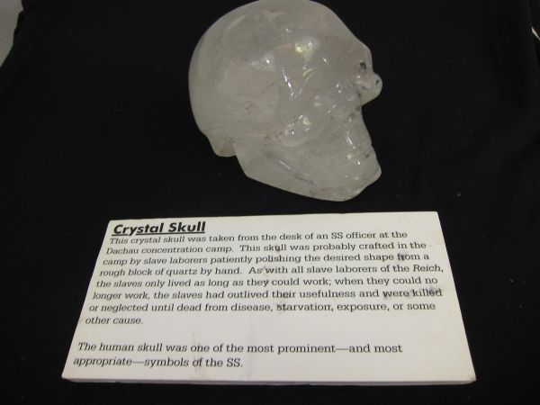 WWII German SS Officer's Crystal Skull, Dachau Concentration Camp. - ORIGINAL VERY RARE -