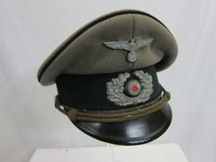 WWII German Pioniere Officer's Visor Cap - ORIGINAL RARE -