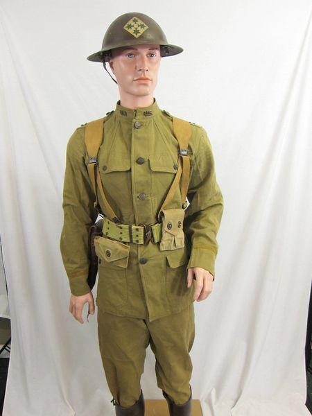 WWI - U.S. 4th Artillery Division, Officer Battle Uniform, ID'd Grouping - ORIGINAL RARE -