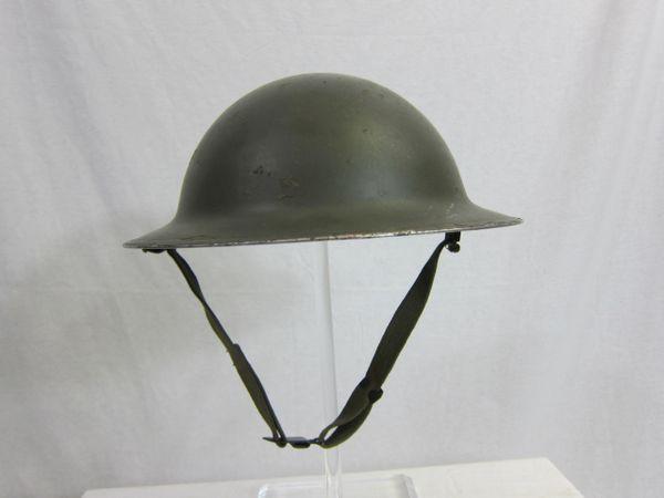 WWII USMC 1917 Brodie Steel Helmet, Dated 1942, USMC Dark Green - ORIGINAL -