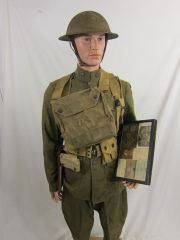 WWI - U.S. 3rd. Infantry Division, Machine Gunner Battle Uniform, ID'd Grouping - ORIGINAL RARE -