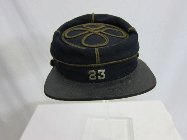 American Indian War - U.S. Army, NY 23rd Infantry Regiment Officer's Kepi - ORIGINAL RARE -