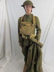 WWI - U.S. 80th Division, 313th Machine Gun Battalion, Uniform, ID'd Grouping - ORIGINAL RARE -