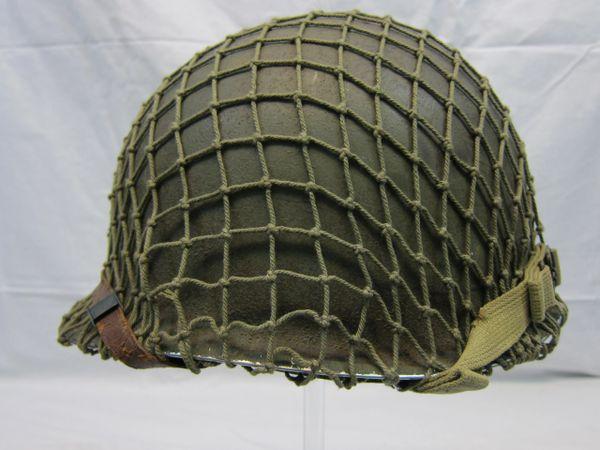 WWII U.S. M1 Helmet Steel Pot, Fixed Bale, Front Seam, w/Westinghouse Liner Complete, - ORIGINAL- SOLD