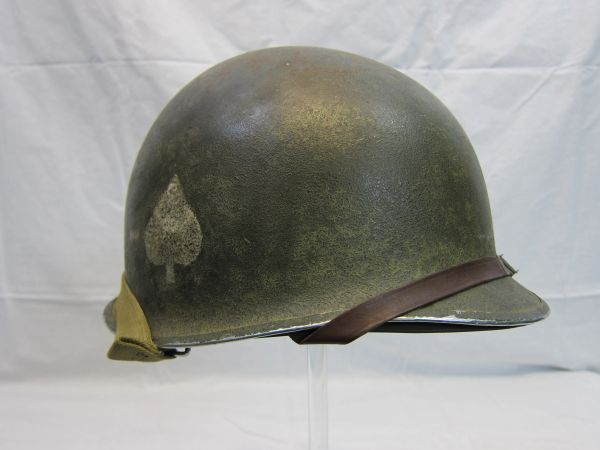"WWII U.S. Helmet Steel Pot, Fixed Bale, Front Seam w/Capac Liner, 506th PIR, 101 Division ""Screaming Eagles"", -ORIGINAL RARE-"
