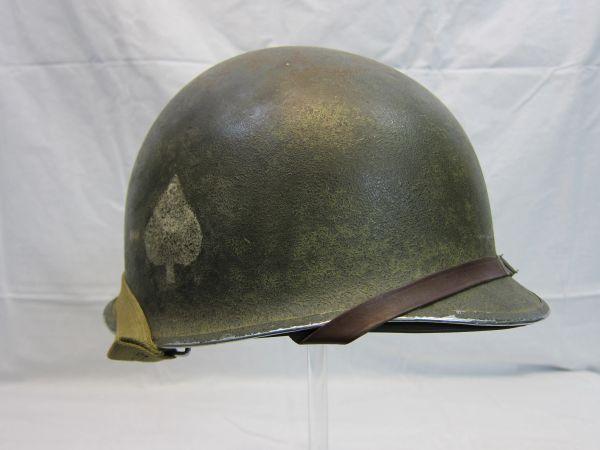 "WWII U.S. Helmet Steel Pot, Fixed Bale, Front Seam w/Capac Liner, 506th PIR, 101 Division ""Screaming Eagles"", -ORIGINAL RARE-SOLD"