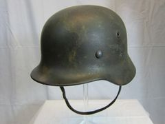 WWII German M-40 Luftwaffe Camouflage Single Decal Helmet - ORIGINAL RARE -