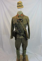 WWII Japanese Tank Commander's Complete Battle Uniform Group -ORIGINAL RARE -