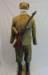 WWII Soviet Army Quilted Winter Battle Uniform Group, - ORIGINAL RARE -