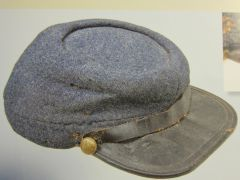 "Civil War - Confederate Enlisted Man's ""Richmond Depot"" Kepi, One of only three Richmond Depot Kepi's Known to exist. - ORIGINAL VERY RARE - SOLD -"