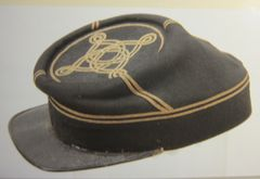 Civil War - Confederate Staff Officer's Kepi, Black Wool Virginia Made - ORIGINAL VERY RARE - SOLD -