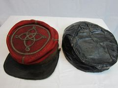 Civil War - Confederate Lieutenant's Artillery Kepi, with Oilcloth Rain Cover - ORIGINAL VERY RARE -