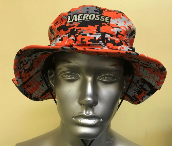 Orange Lacrosse Digital Camo Bucket Hat