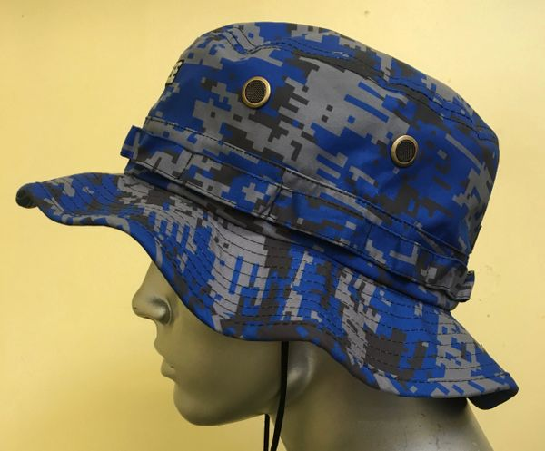 Royal Blue Lacrosse Digital Camo Bucket Hat