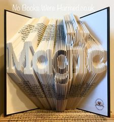 READY TO POST Magic : : Hand Folded, never cut book art ★★