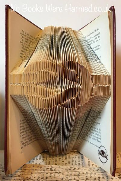 Knotted rope : : hand folded book art : : nautical, boat, Scouts, gift, mariner