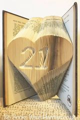 Any two digits, sunk within a heart : : Perfect for birthdays, anniversaries and other milestones
