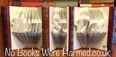"""""""Mum"""" """"&"""" """"Dad"""" Tryptch handfolded into the pages of 3 books : : Fanky Style #1"""