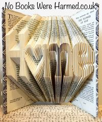"""H♥me"" Home with hollow heart 'o' : : New home, moving present, book art : : Home is where the heart is book art ♥"
