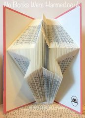 Star :: Hand folded, non cut book art