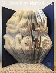 "READY TO POST ""Soul Mate"" : Hand folded, non cut book art"