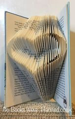 READY TO POST Hollow Heart : : Hand folded, non cut book art