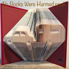 READY TO POST Car & Caravan Hand folded book art