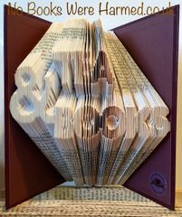 READY TO POST Tea & Books hand folded book art
