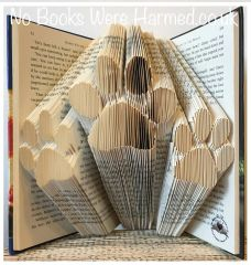 READY TO POST Tri Paws : : Three paws : : Triple paws : : hand folded book art ♥