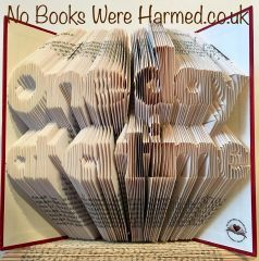 READY TO POST One Day At a Time : hand folded book art ♥